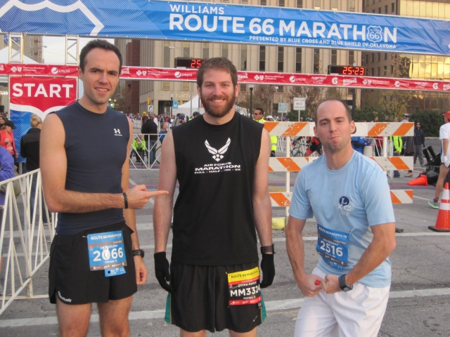 Dan, myself, and Nolan before the race. My face is not that fat, but the beard adds some girth.