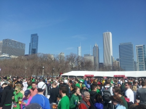 Post-race party at the Shamrock Shuffle