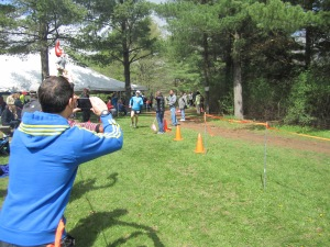 Here's Siamak chugging across the line at the end of his 50-mile race