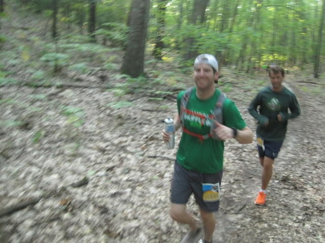 Myself and Chris, somewhere around Mile 3 or 4
