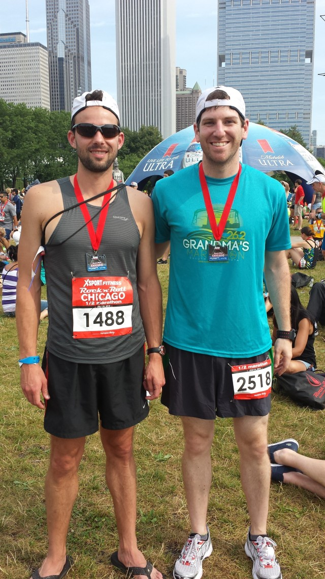 Ben and myself, sometime post-race